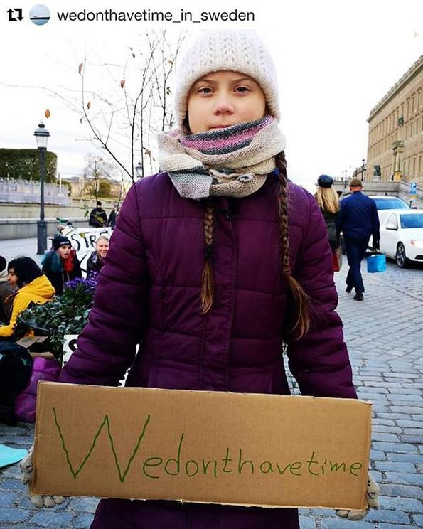 Greta Thunberg, We Don't Have Time, Facebook, October 26, 2018