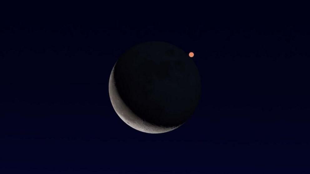 The waning crescent moon and the planet Mars will put on a show Feb. 18, appearing quite close to each other in the southeastern sky. The moon will pass in front of Mars, blocking the planet from view, but for the eastern half of the U.S. this will occur